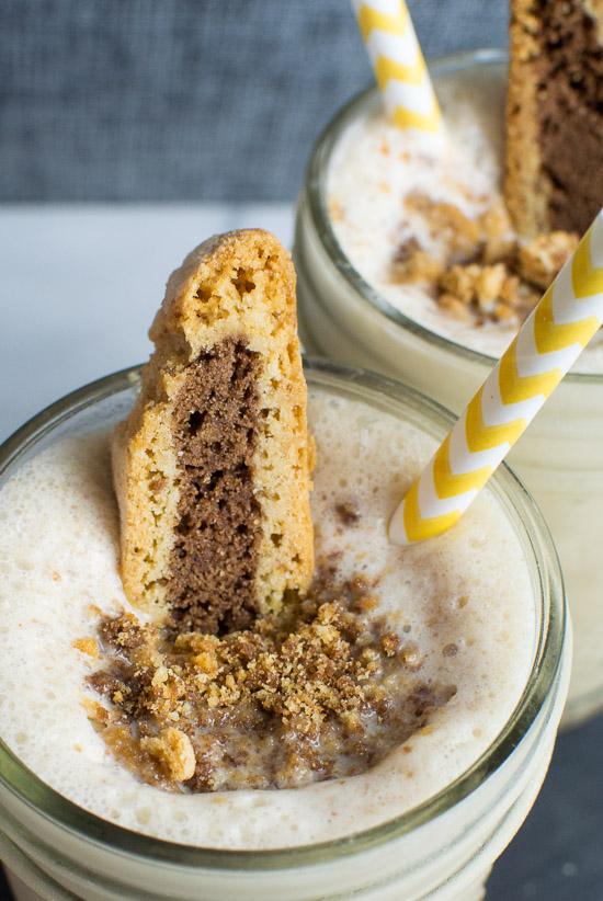 Coffee biscotti milkshake