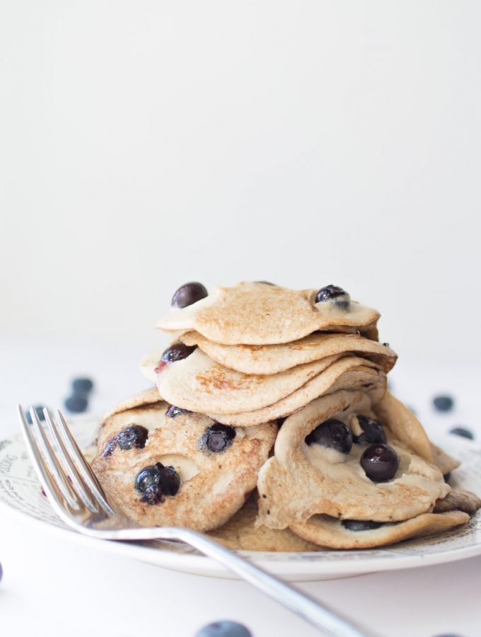 No flour banana blueberry pancakes